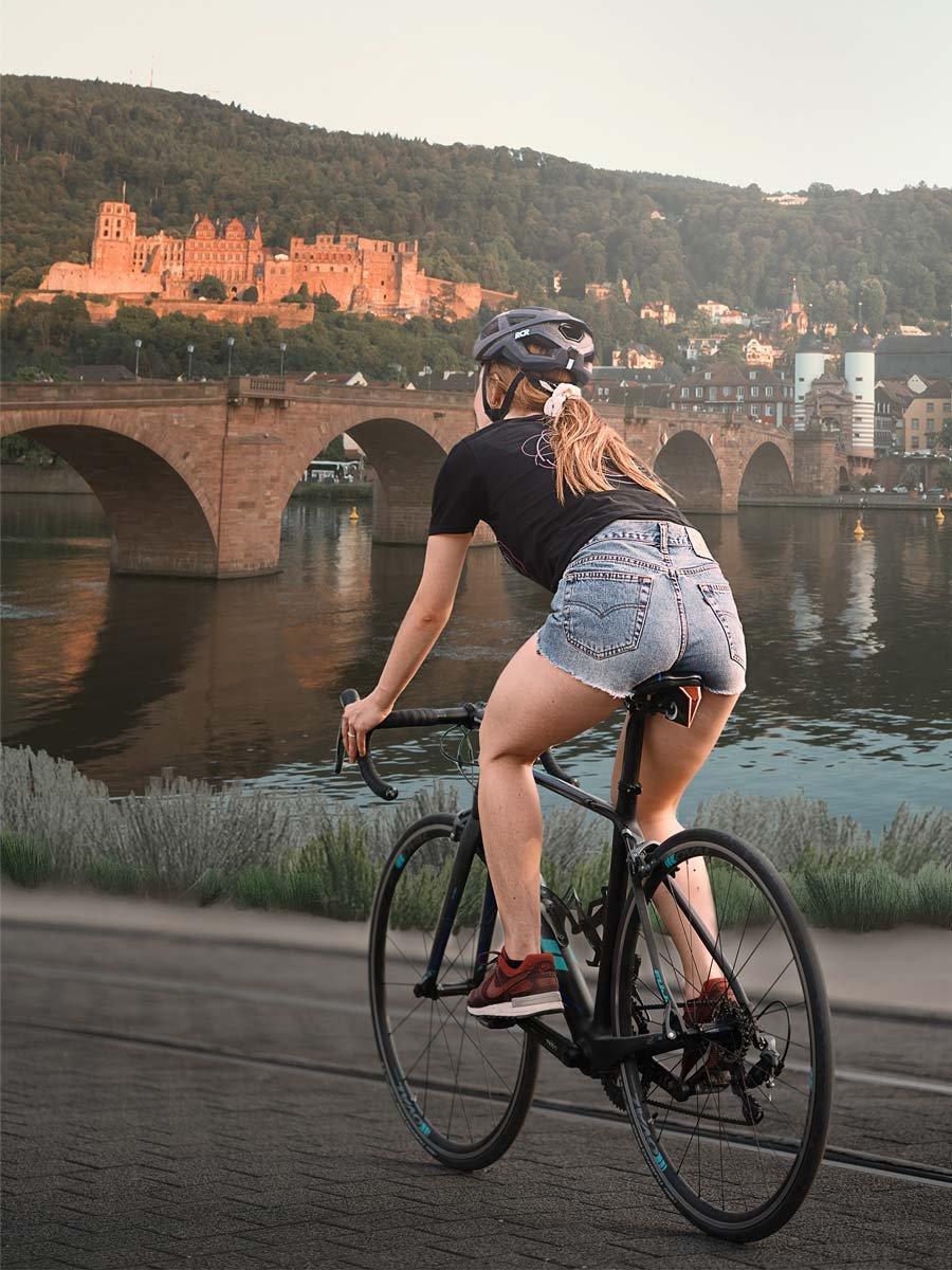 Fahrradtour am Fluss