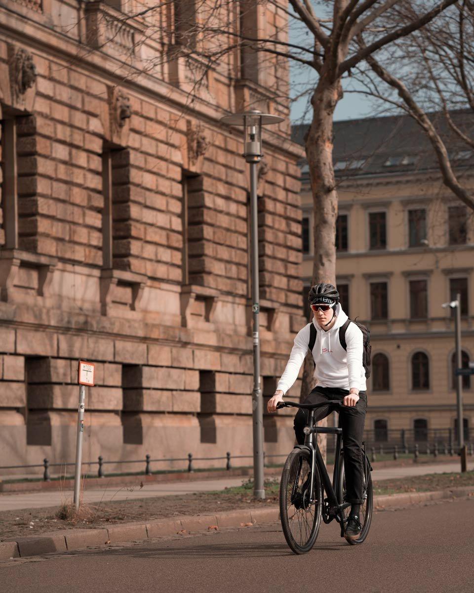 freie Fahrt auf der Fahrradstraße in Leipzig